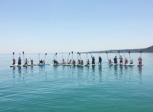 Beginner SUP lessons on the Mornington Peninsula